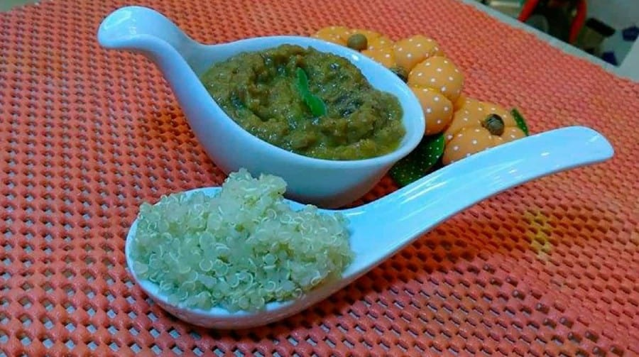 Sugestão de papinhas salgadas usando quinoa