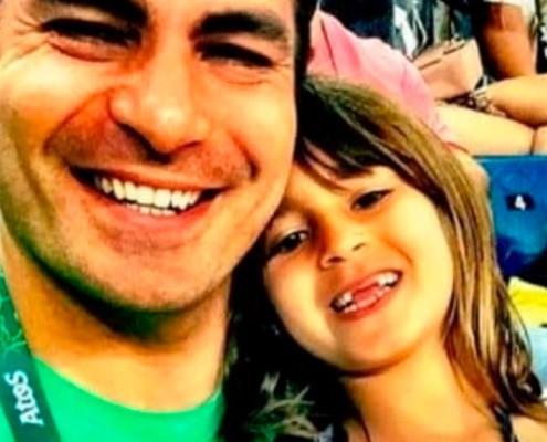 Ator Thiago Lacerda fez uma rara aparição com seus filhos
