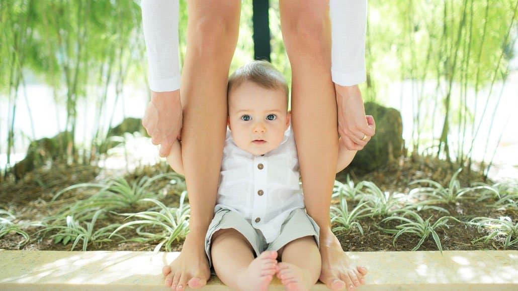 Mãe e bebê em foto incrível