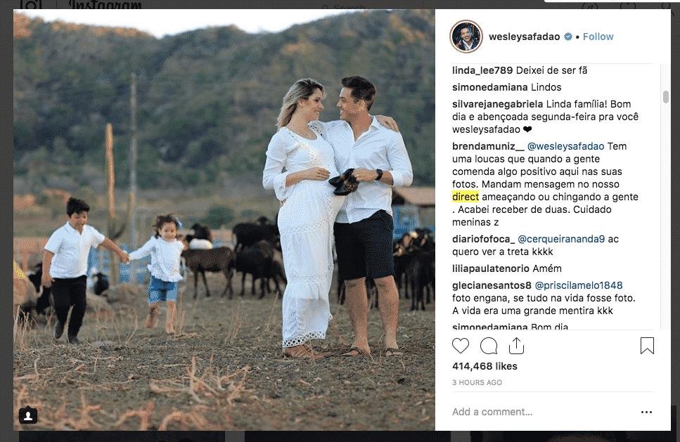 Safadão e família na fazenda
