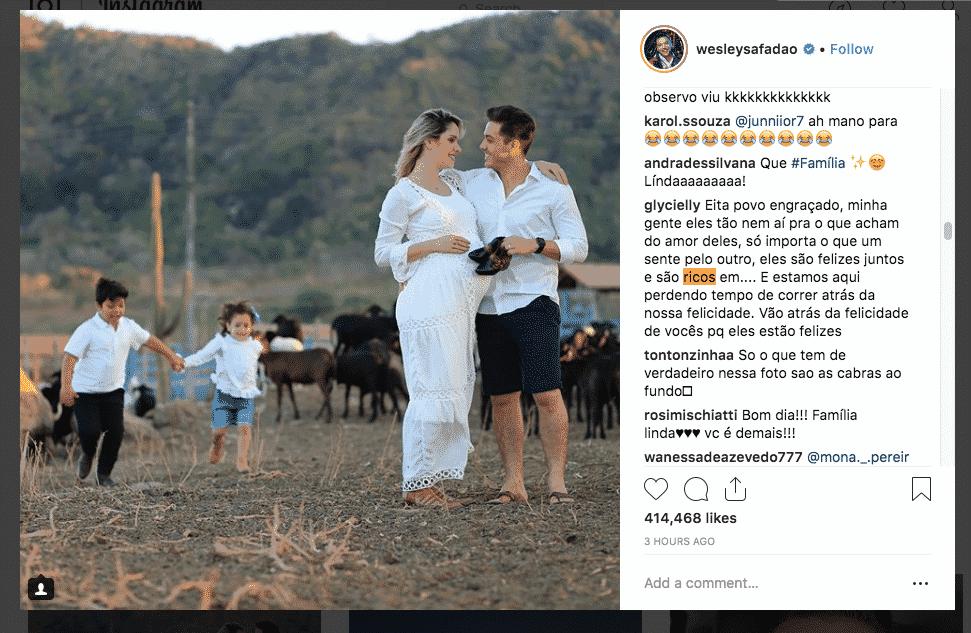 Wesley Safadão e família na fazenda