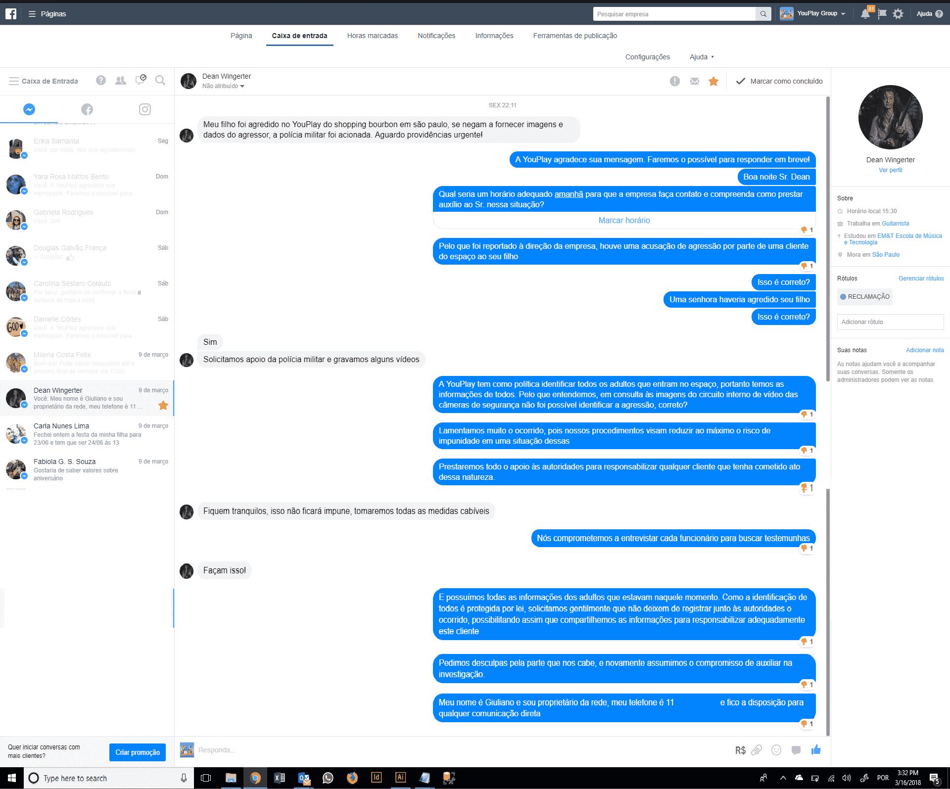 Essa foi a resposta da YouPlay Space sobre o caso