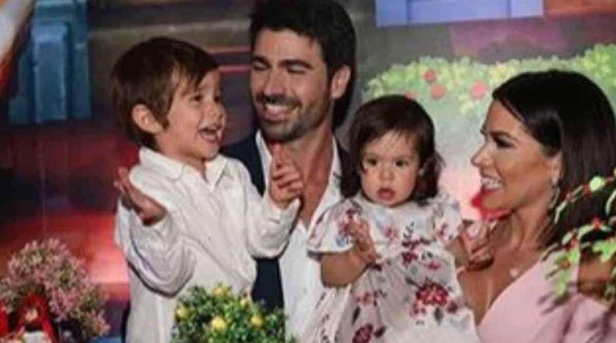 Linda, a filha dos ex-bbbs Adriana Sant´Anna e Rodrigão completou um ano