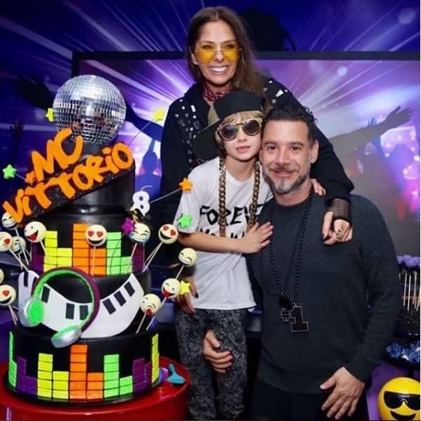 Vittorio, filho de Adriane Galisteu, celebrou oito anos de vida
