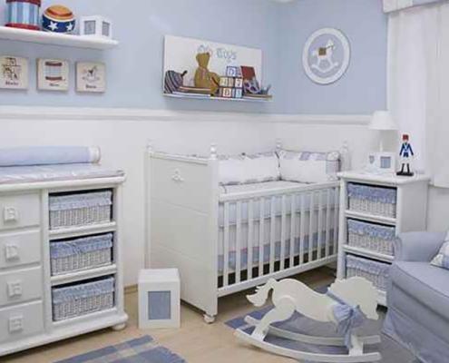 Opções de quartos para bebês meninos