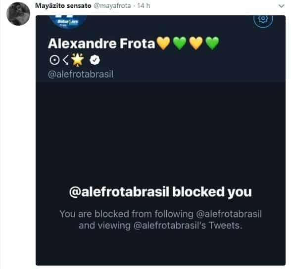 Filho de Alexandre Frota mostra que o pai o bloqueou no Twitter