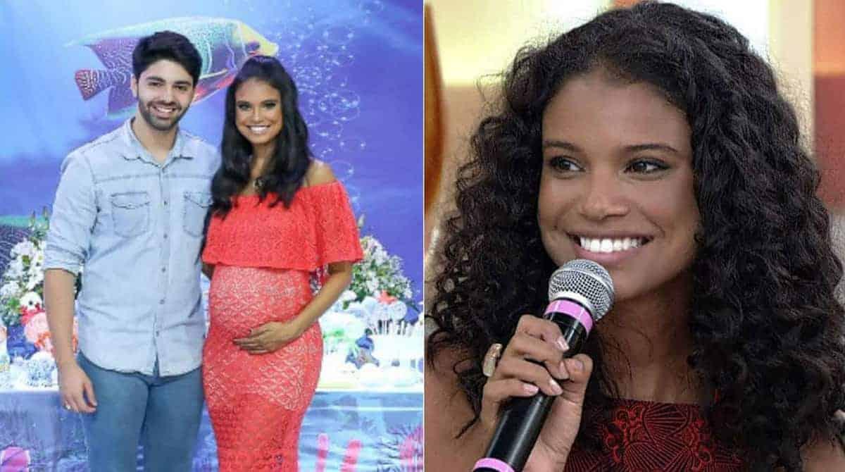 No chá de bebê de seu filho a atriz Aline Dias fez algo diferente