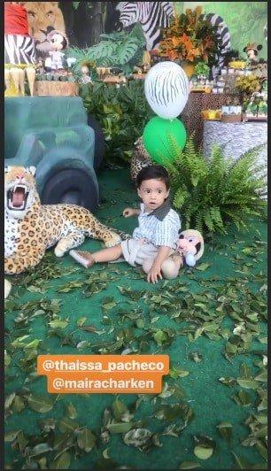 Confira as imagens da bela festa de Bernardo, filho da Aline Dias