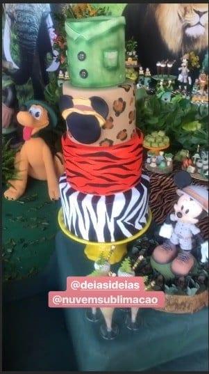 Um pouco mais da festa de um ano de Bernardo, filho da atriz Aline Dias