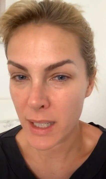 Ana Hickmann desabafando sobre suspeita de coronavírus