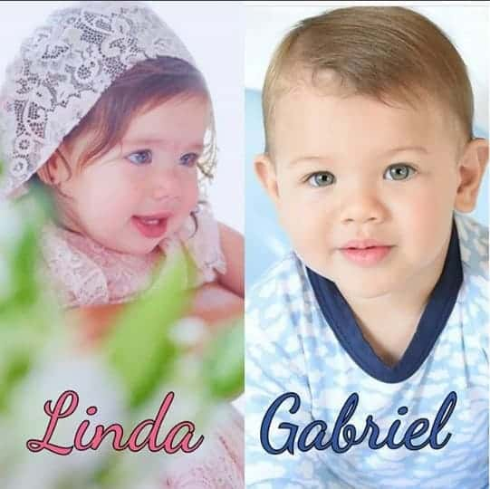 Essa foi a montagem feita com Linda e Gabriel