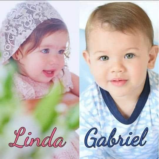 Essa foi uma das montagens feita para Linda e Gabriel