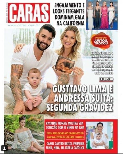 Veja qual o sexo do bebê de Gusttavo Lima e Andressa Suita