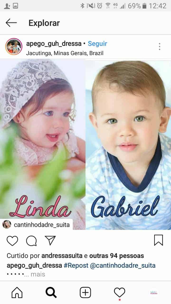 Veja a montagem feita pelos internautas com Linda e Gabriel
