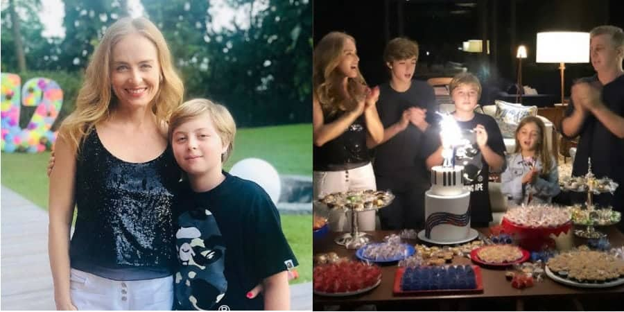 Angélica comemorando o aniversário de seu filho