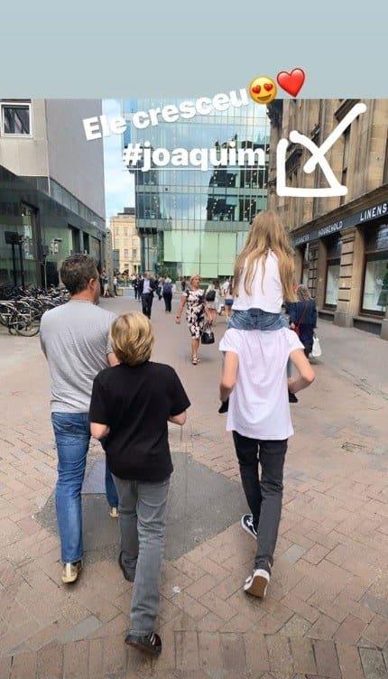 Angélica mostrou os três filhos com Luciano Huck