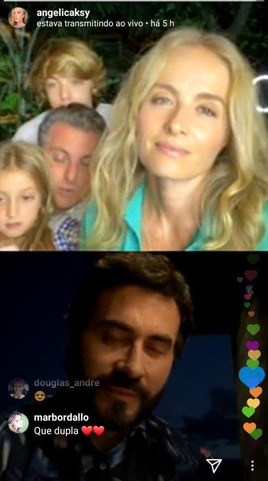 Angélica com Luciano Huck e dois dos filhos