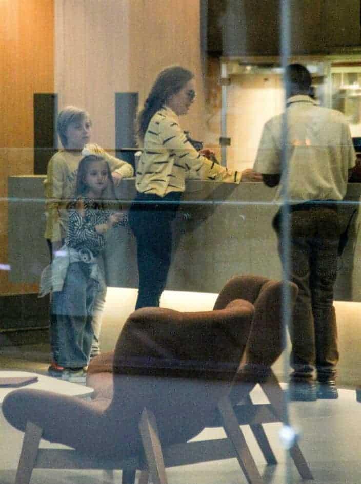 Angélica com os filhos Benicio e Eva