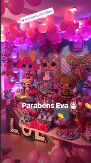 Acompanhe os detalhes da bela festa de aniversário de Eva, filha de Angélica e Luciano Huck