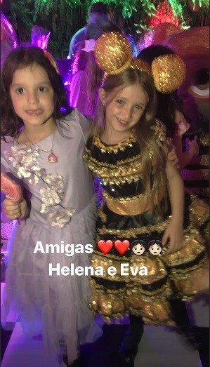 Helena, filha de Rodrigo Faro também estava na festa de aniversário de Eva