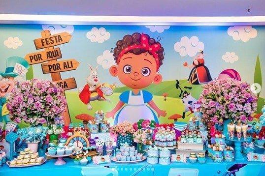 Um pouco dos detalhes da festa de um ano da pequena Manu, filha do ator Pablo Sanábio