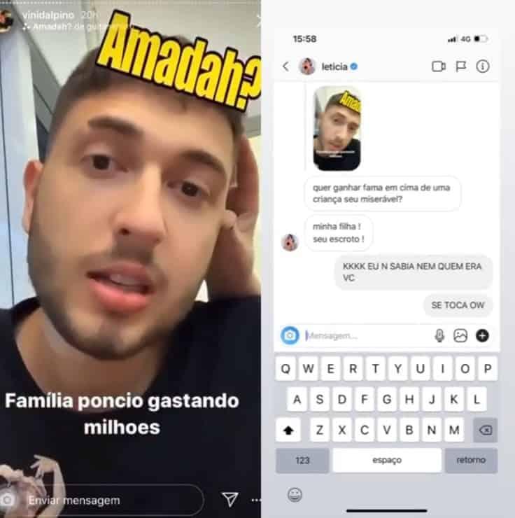 Resposta de Letícia Almeida para youtuber que falou de sua filha
