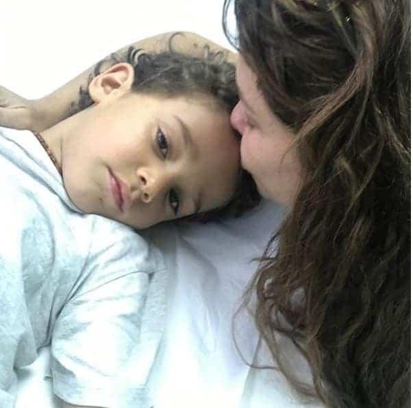 Martin, filho de Bárbara Borges, foi parar no hospital