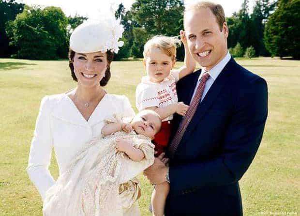 Publicação do batizado da princesa Charlotte