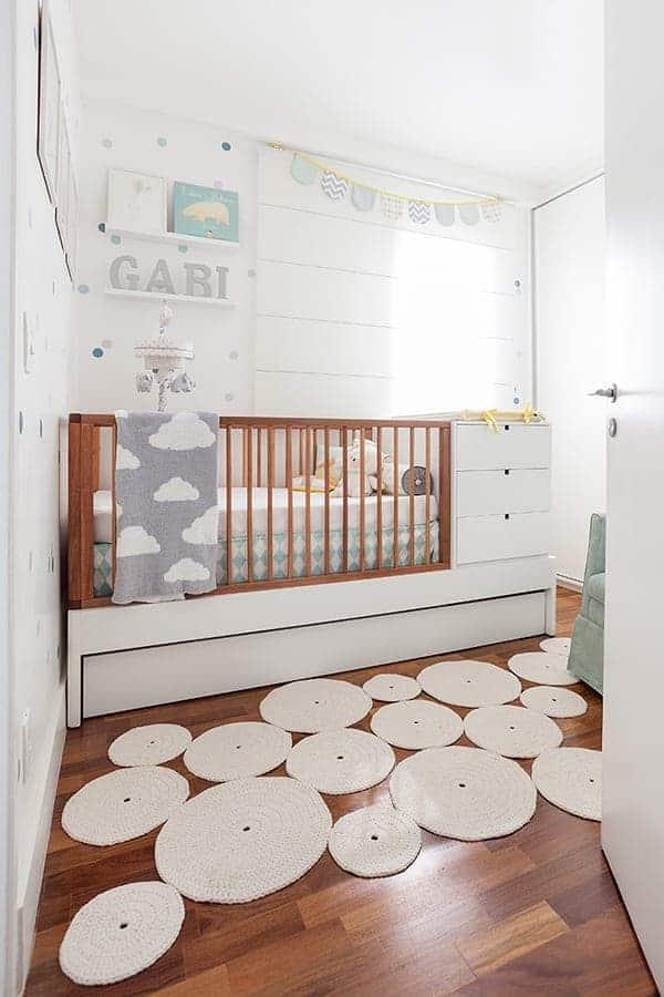 Berço funcional é uma boa opção para o quarto de bebê
