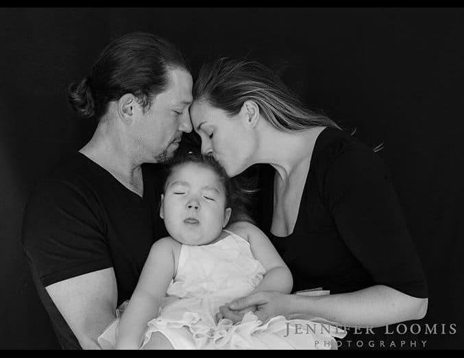 Ator com a esposa e a filha pouco antes dela morrer