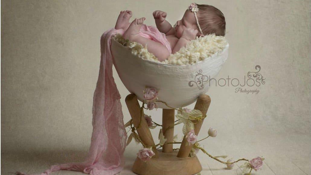 Fotos de recém-nascidos no gesso