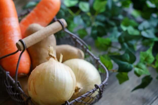 Cenoura e cebola podem deixar as cólicas piores
