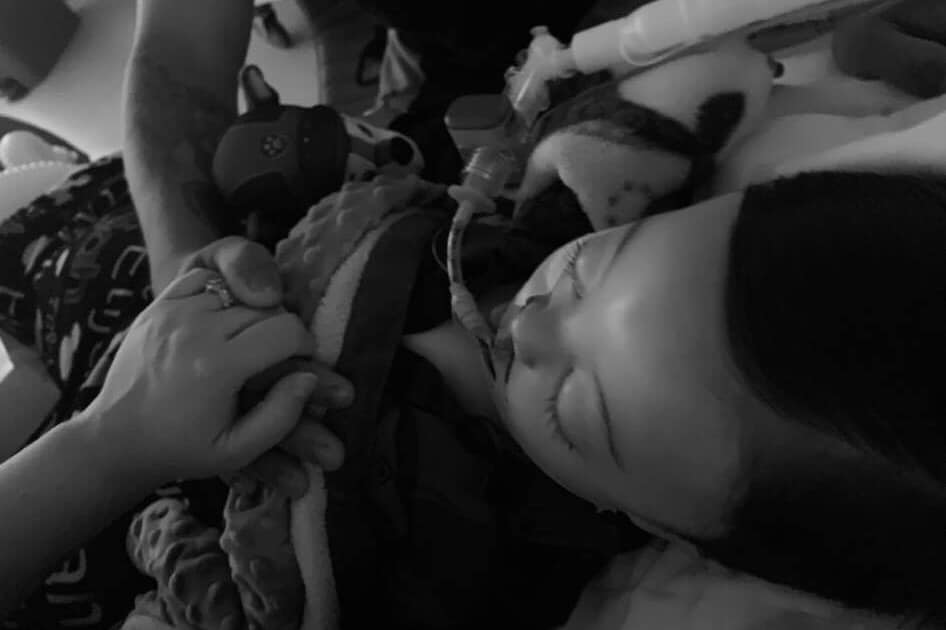 A família compartilhou esta última foto de seu bebê
