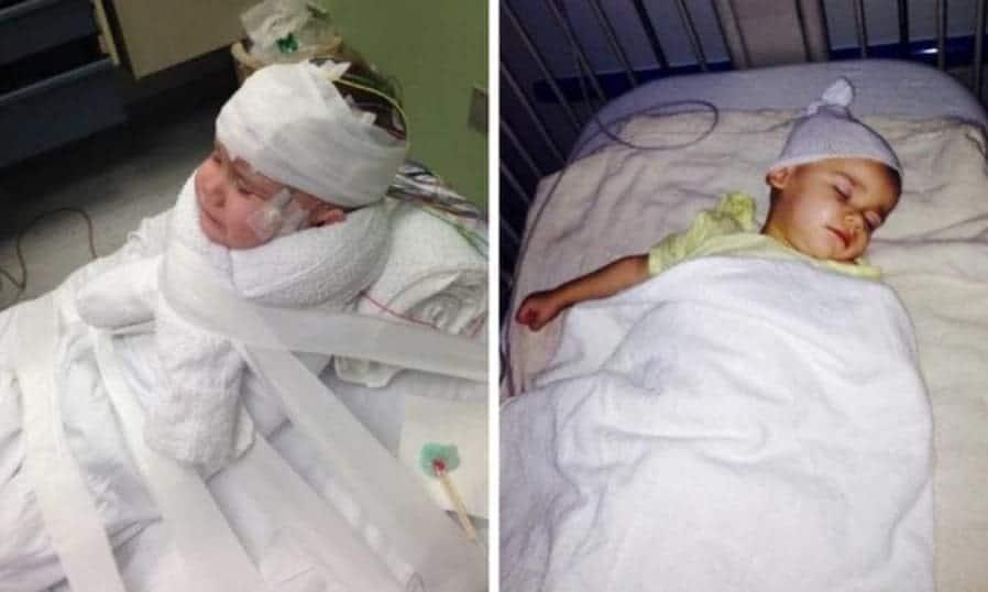 A namorada do pai foi presa pela agressão do bebê