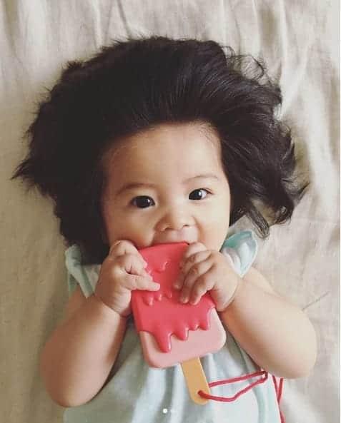 A bebê mais cabeluda do mundo é a japonesa Chanco