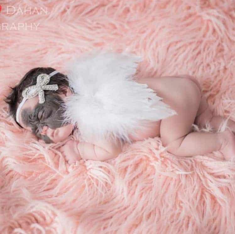 Registro do ensaio newborn da bebê