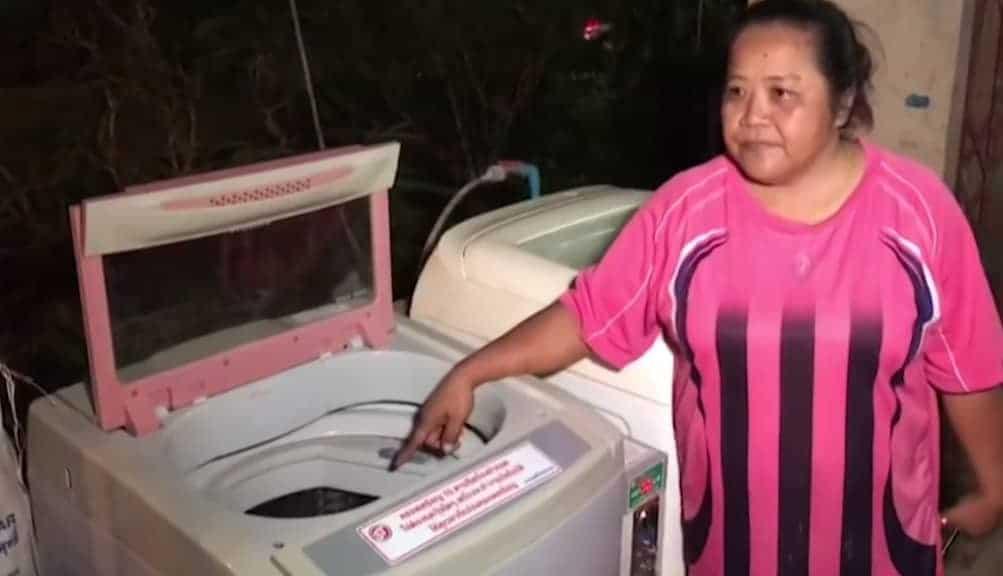 O recém-nascido foi encontrado nessa máquina de lavar roupa