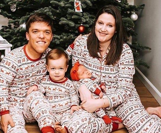 Zach e Tori Roloff com a bebê e o filho mais velho