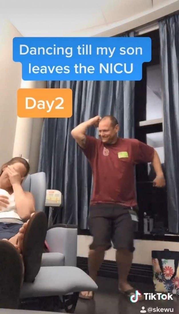 Os vídeos do pai do bebê dançando fizeram sucesso na internet