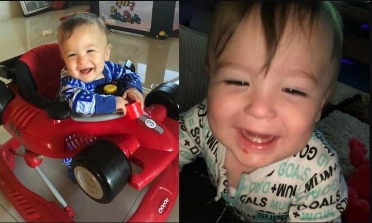 Nessa publicação o menino Luca com 21 meses de vida