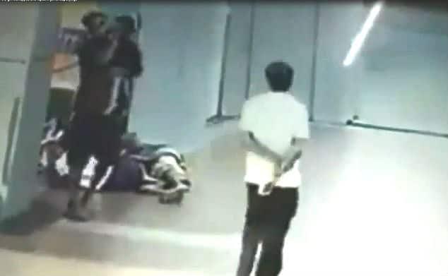Momento em que homem sequestrou a bebê