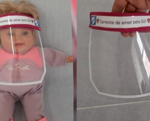 Saiba fazer este escudo facial que protege bebês