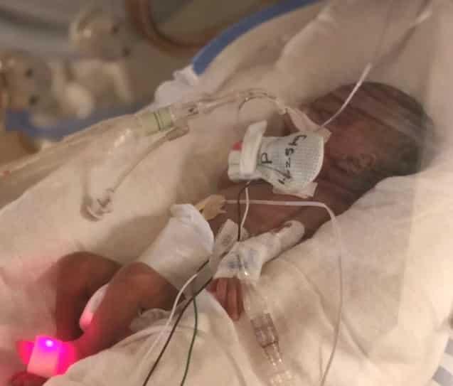 Dariel foi um dos bebês sobrevivente do furacão Florence