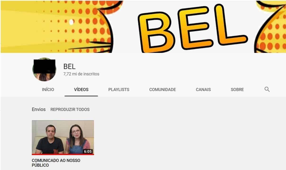 Canal Bel para Meninas com seus vídeos arquivados