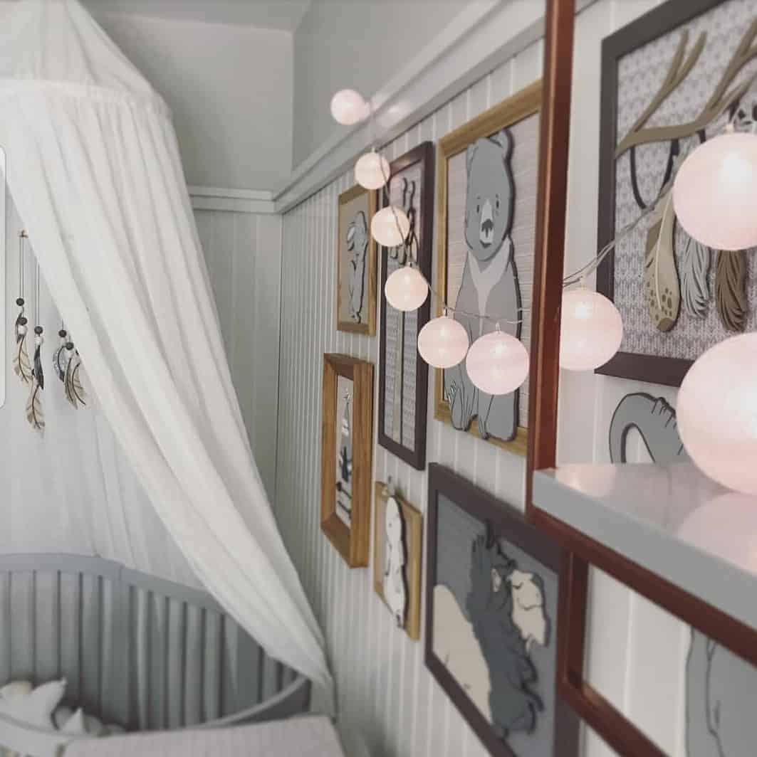 Foto do belo quarto do menino Rael, filho da atriz Isis Valverde