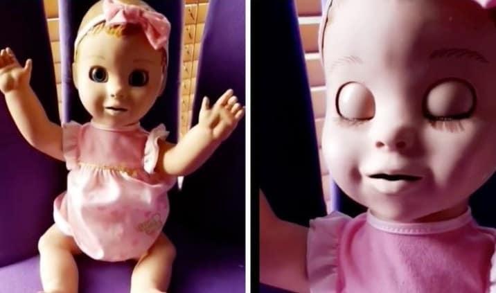 Boneca dando problema em flagra feito pela mãe