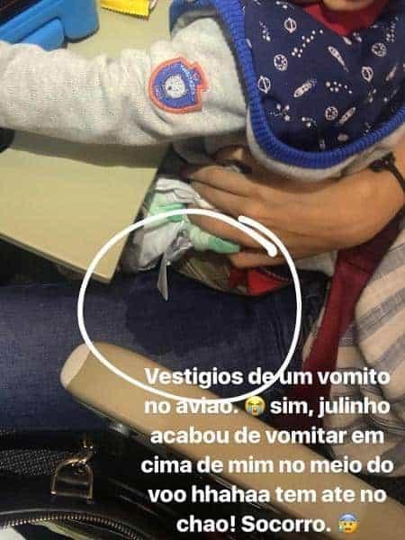 Bruna Hamú compartilhou essa imagem do acidente com o bebê Júlio