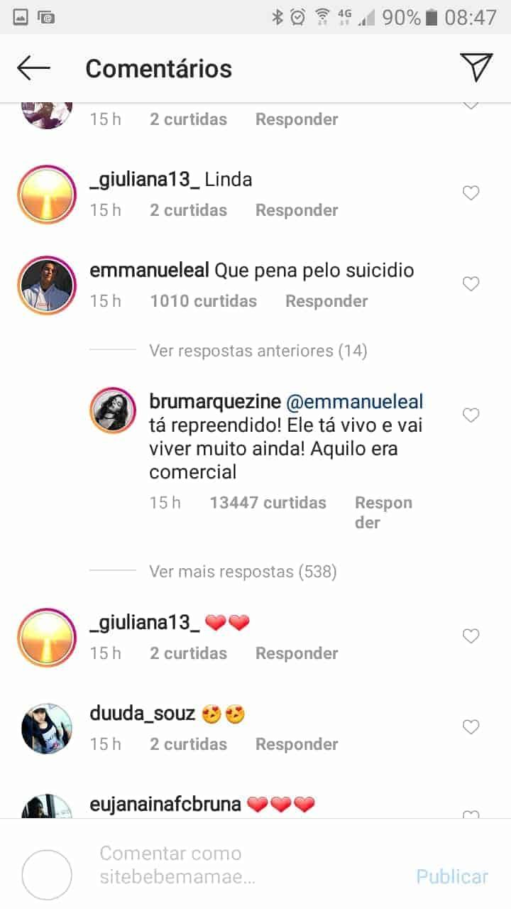 Bruna Marquezine falou sobre a morte do pai