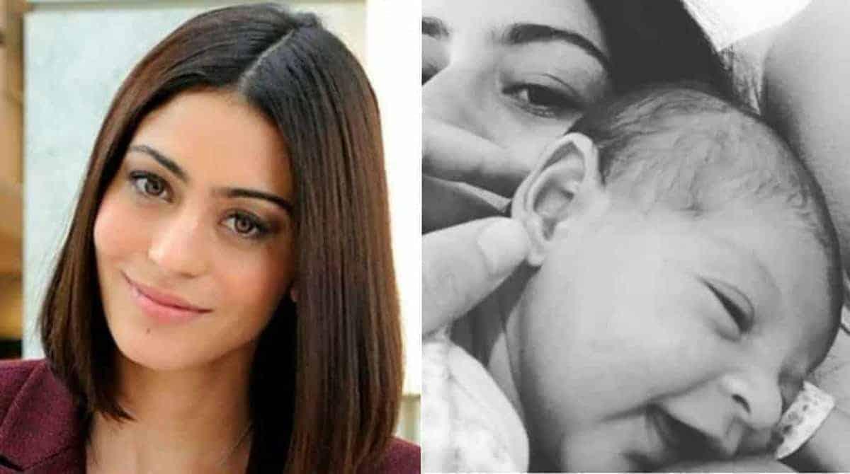 A atriz Carol Castro comemorou um mês de sua filhota Nina com uma linda foto