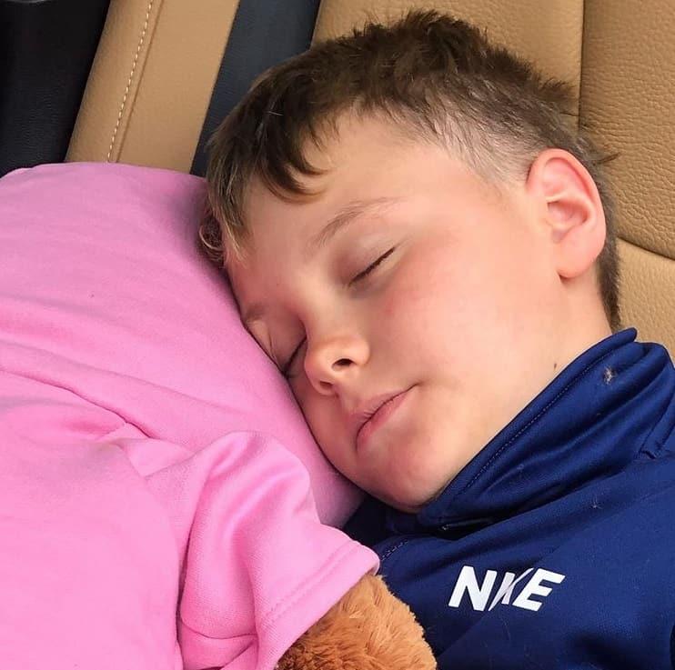 O menino Davi Lucca, filho de Carol Dantas e Neymar